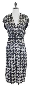 Escada short dress black Houndstooth Belted on Tradesy
