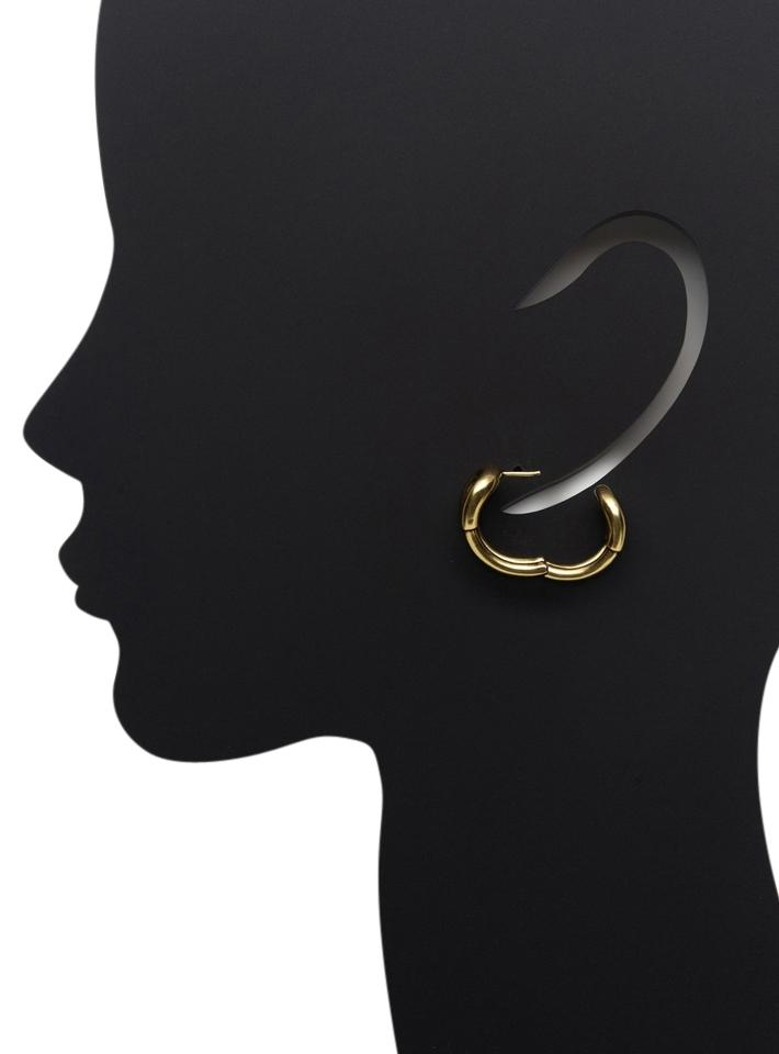 Giles Brother Br Gold Double Row Hoop Earrings