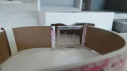 Dior Christian Dior Chris 47 Quartz Pink Flower Leather Strap Watch