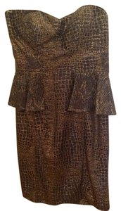 Aidan Mattox short dress Black And Gold on Tradesy