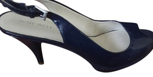 Nine West Patent Slingback Pump Evening Navy Pumps