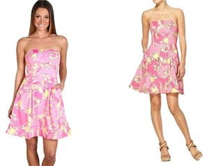 Lilly Pulitzer short dress HOTTY PINK DAY LILLY (PINK, WHITE & YELLOW) Preppy Sorority Summer on Tradesy