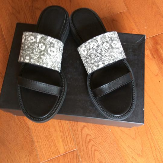 Helmut Lang Black And White Sandals