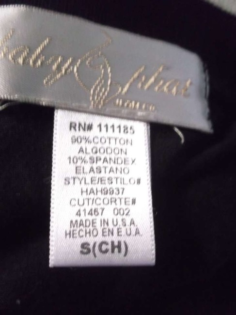 Baby Phat Size S Size 6 Blouse Bottoms Top Black