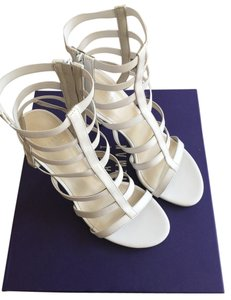 Stuart Weitzman White Calf Sandals