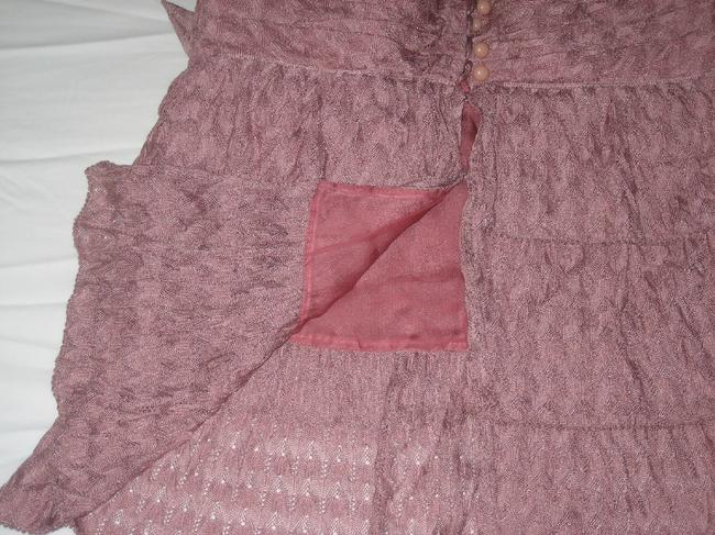 Missoni Tank Spaghetti Strap Lace Ruched Tiered Dusty Top Pink