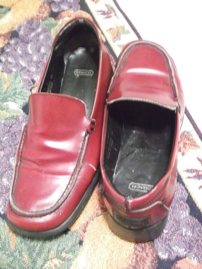 Coach Flat Loafter Burgandy red Formal