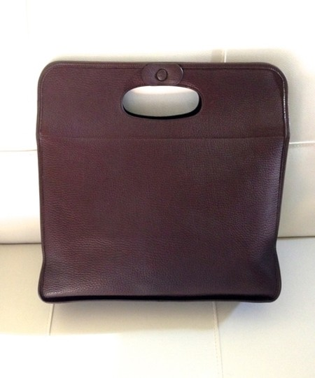 Hermès Ardennes Leather Sac De Poignee Chocolate Tote in Brown