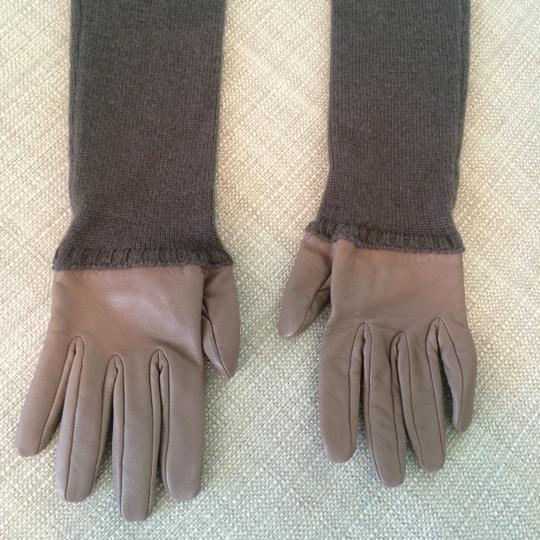 Hermès Leather & Cashmere Long Gloves by HERMES