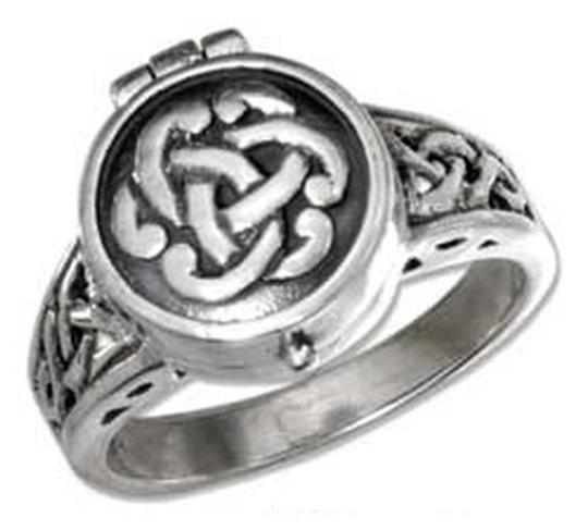Other Sterling Silver Antiqued Celtic Knot Poison Ring