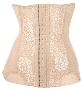 Other Waist Training Cincher Body Shaper Shapewear Girdle Black Top beige