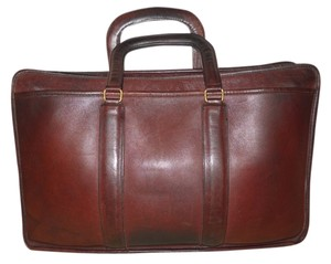 Coach Vintage Leather Briefcase brown Messenger Bag