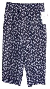Hillard & Hanson Nwt Capris Blue with White Anchor Print