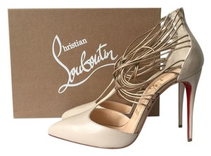 Christian Louboutin So Kate Pigalle 100mm Follies Nude, Gold Pumps