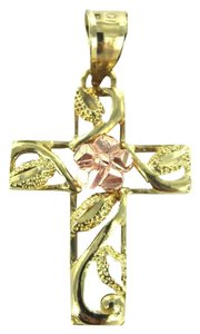 10kt Yellow & rose Gold Pendant CROSS