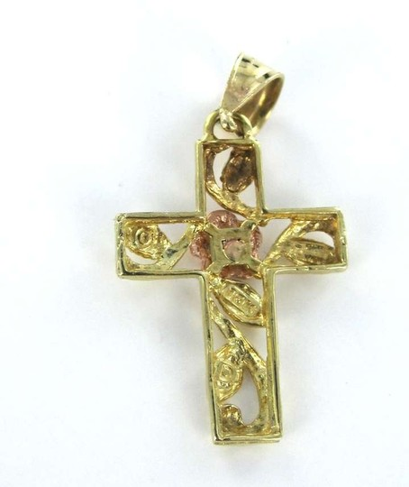 Other 10kt Yellow & rose Gold Pendant CROSS