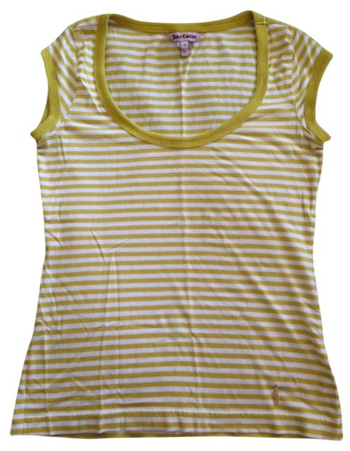 Preload https://item2.tradesy.com/images/juicy-couture-lemon-yellow-and-white-summer-tee-shirt-size-4-s-3667126-0-0.jpg?width=400&height=650
