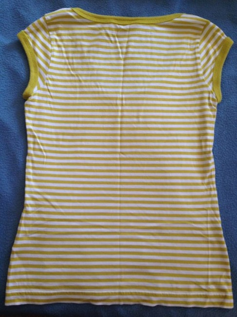 Juicy Couture Fitted T Shirt Lemon Yellow and White