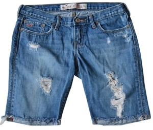 Hollister Cut Off Shorts Blue