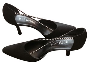 Metaphor Black with rhinestones Pumps