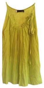 Myne Top Lime green silk