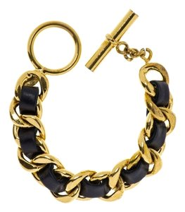 Chanel Chanel Vintage Leather Link Bracelet