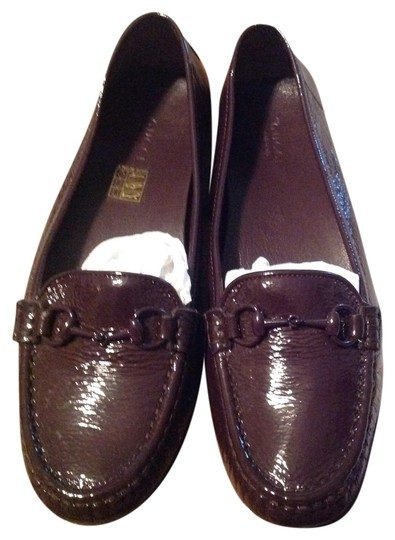 Gucci Loafers Patent Leather Patent Leather Horsebit Driving Purple Flats