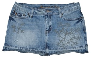 Abercrombie & Fitch Denim Mini Skirt Blue