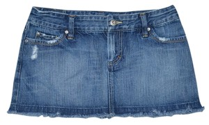 American Eagle Outfitters Denim Mini Mini Skirt Blue