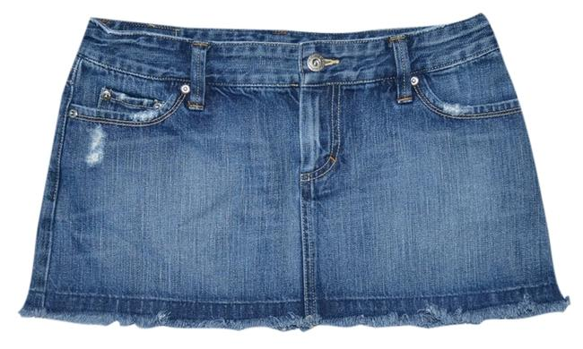 American Eagle Outfitters Denim Cotton Mini Skirt Blue