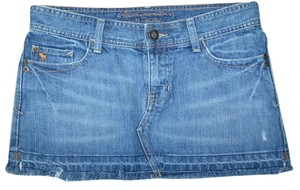 Abercrombie & Fitch Denim Mini Mini Skirt Blue