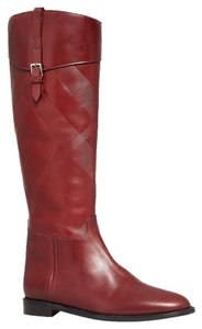 Burberry Heritage Copse Equestrian Burnt Red Boots