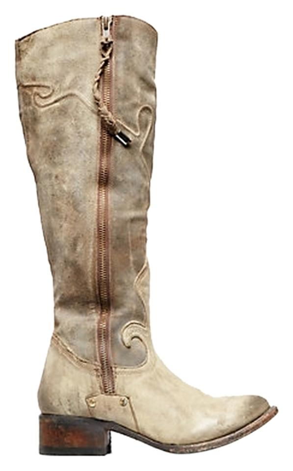 FreeBird Taupe New Berlin Rare Unique By Steven Berlin New Leather Boots/Booties 068bdc