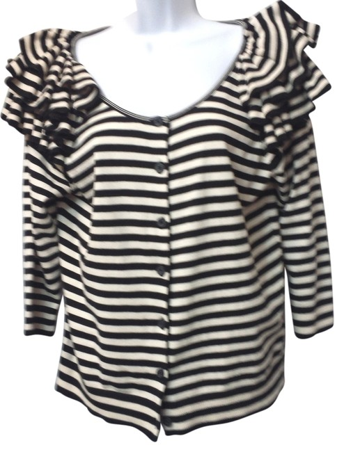 H&M H & M Striped Knit Top