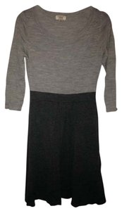 Lands' End short dress Gray Colorblock Merino Wool 3/4 Sleeve on Tradesy