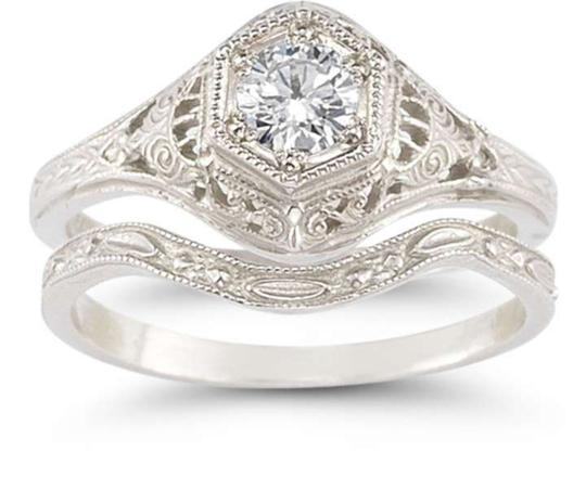 Preload https://item1.tradesy.com/images/apples-of-gold-white-vintage-style-sterling-silver-and-engagement-ring-366925-0-0.jpg?width=440&height=440