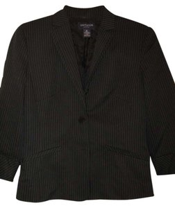 Ann Taylor Ann Taylor black w/light blue pinstripes skirt suit