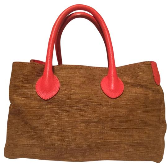 Preload https://img-static.tradesy.com/item/3669424/doncaster-bronze-and-orange-woven-fabric-leather-tote-0-0-540-540.jpg