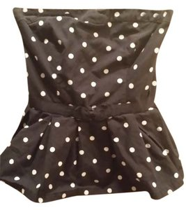 Abercrombie & Fitch Black with white polka dots Halter Top