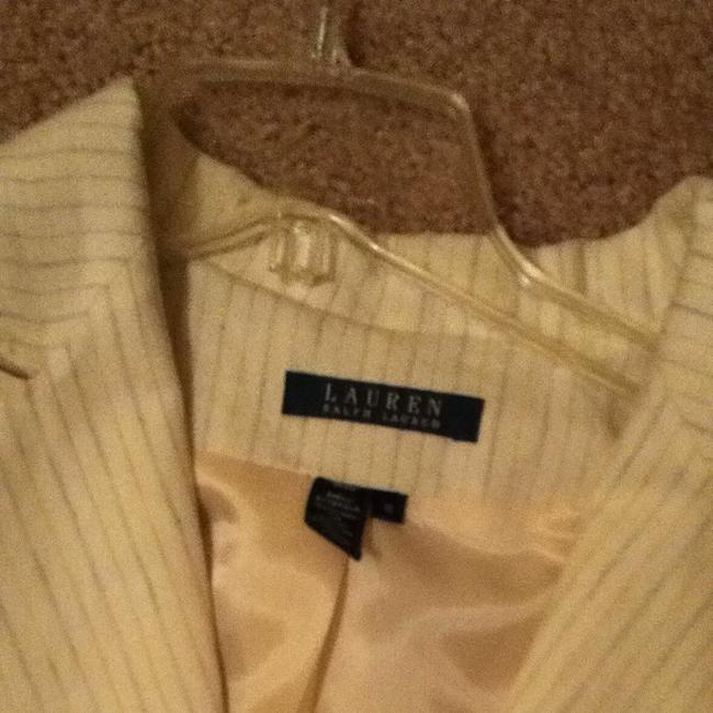 Lauren Ralph Lauren Off White With Blue Striped Blazer