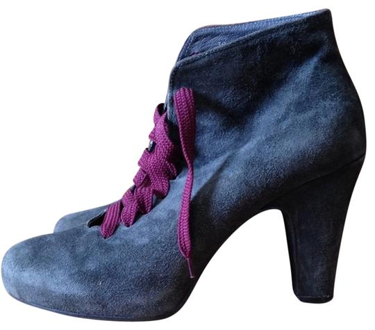 Cordani Pink Heels Chunky Heels Suede Leather Gray Boots