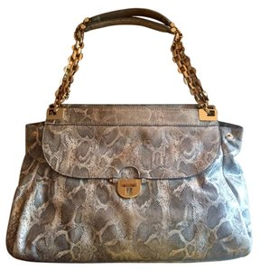 Tory Burch Animal Print Chain Straps Elegant Shoulder Bag