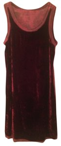 XCVI short dress garnet red Shift Velvet Maroon Knee Length Sleeveless on Tradesy