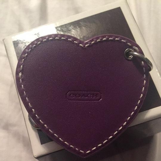 Coach Coach Heart Photo Keychain