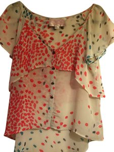 Forever 21 Top Beige, Pink, Blue