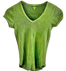 Gap Cotton Stretchy T Shirt green