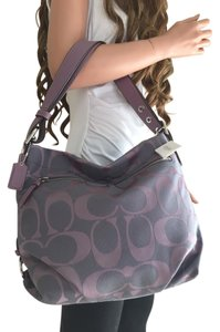 Coach Signature Lilac Tote Cross Body Bag