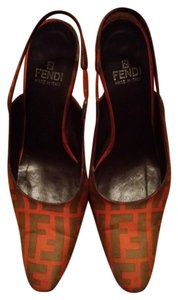 Fendi Orange and gray Wedges