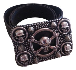 Other Handmade belt buckle with leather belt
