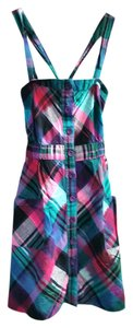 Urban Outfitters short dress Multi Plaid Adjustable Removable Straps on Tradesy